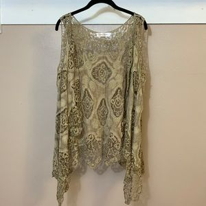 Simply Couture Bohemian Crocheted Cover Up Vest